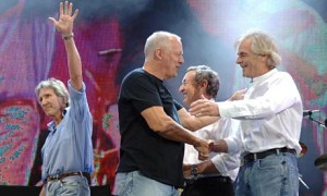 Pink Floyd at their last show together, Live 8 in 2005. Photograph by Andy Paradise-Rex Features